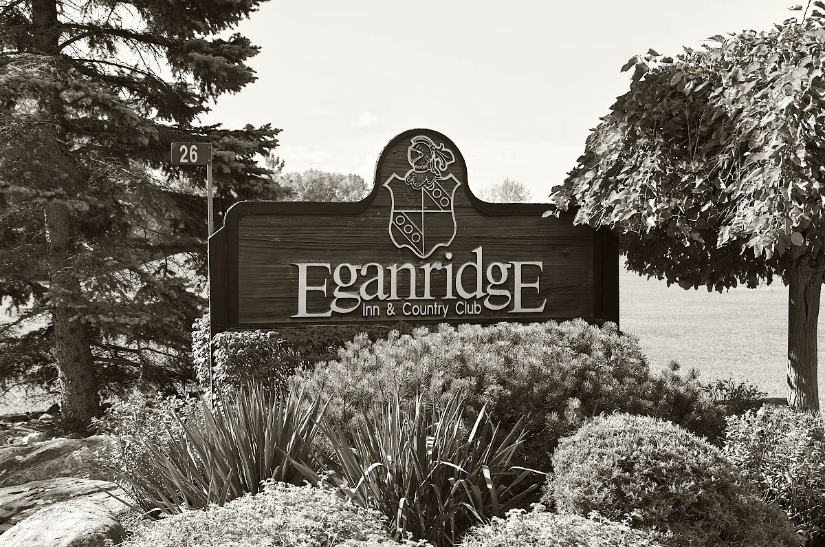 Eganridge Resort entrance sign
