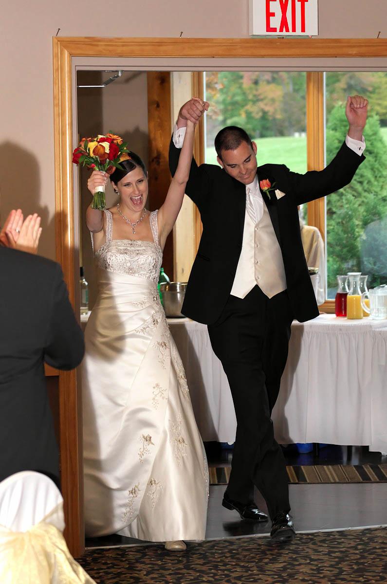 Grand entrance at Eganridge wedding reception