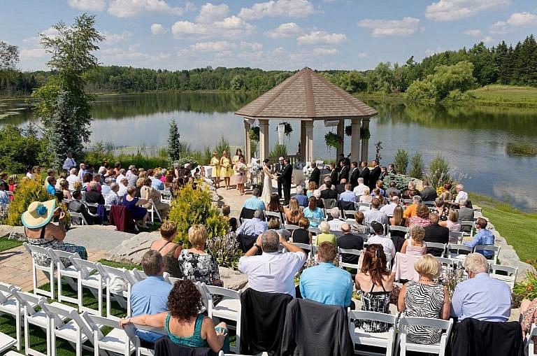 wedding ceremony at royal ambassador in caledon