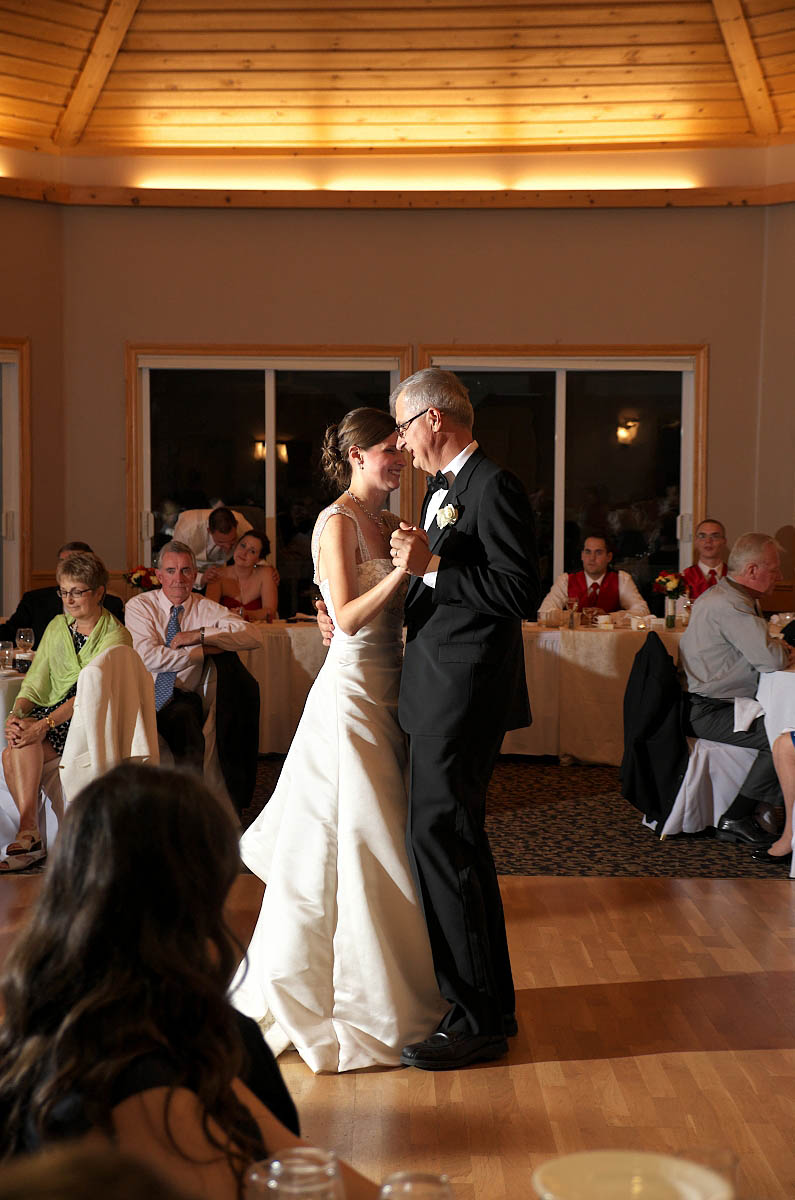Father Daughter Dance at Eganridge Resort wedding