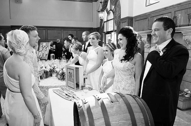 Receiving line at royal ambassador wedding