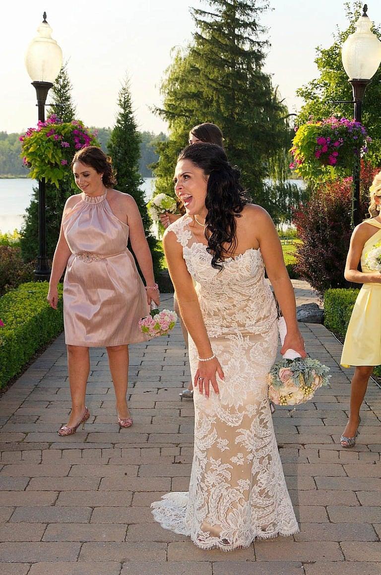 Beautiful bride laughing at Royal Ambassador Caledon wedding