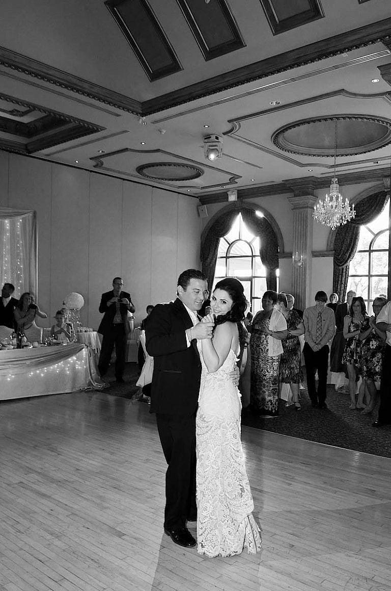 Bride and groom's first dance at caledon wedding at Royal Ambassador