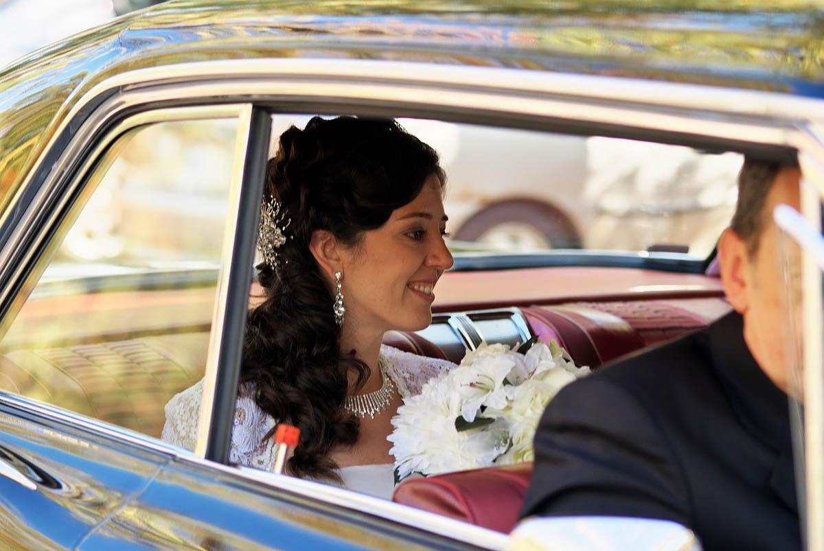 bride arrives by car to vaimede resort wedding ceremony