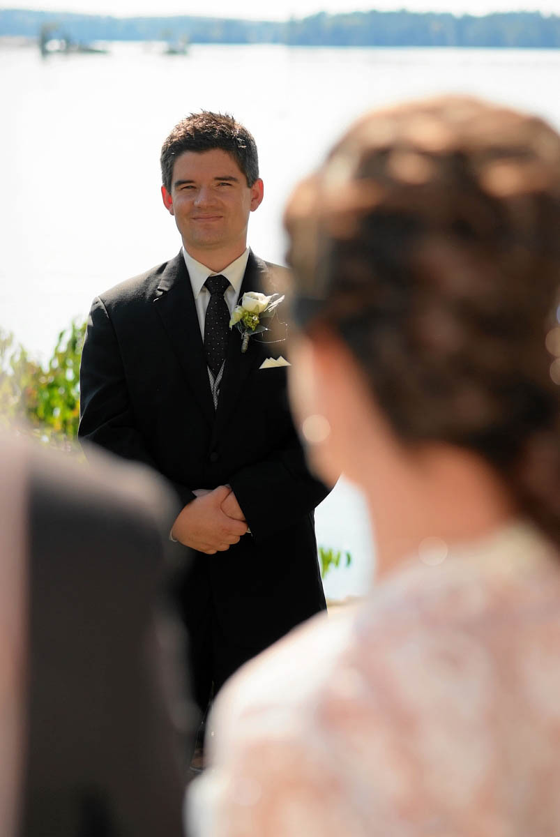 waterfront wedding ceremony at viamede resort wedding
