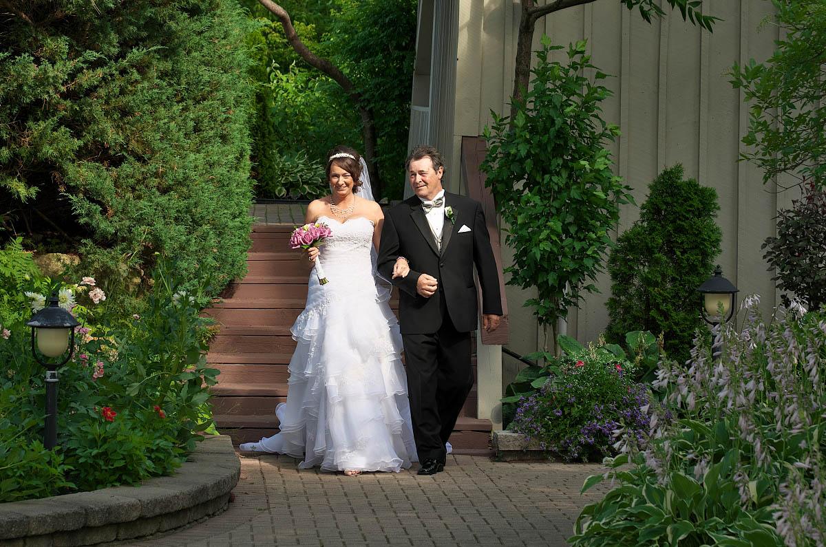 bride walking down aisle nottawasaga