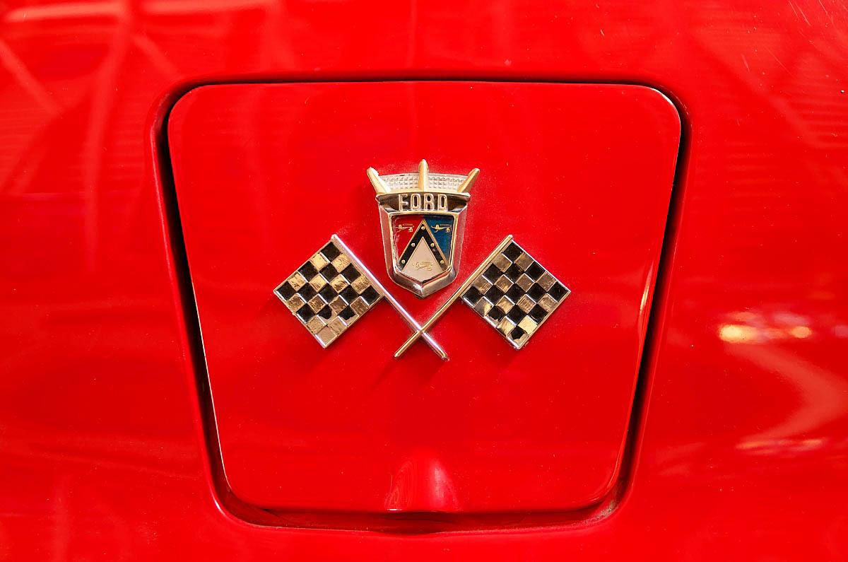 close up of car insignia belcroft
