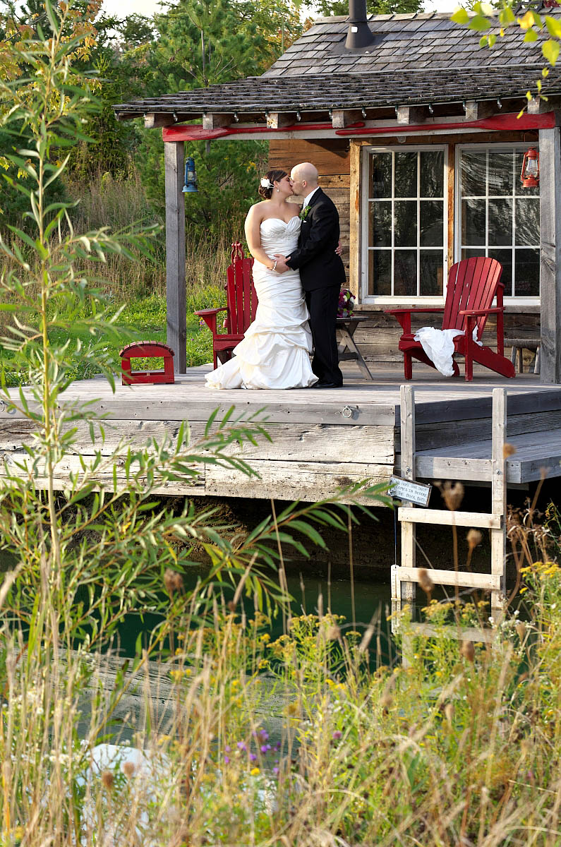 kiss on the shack deck at belcroft