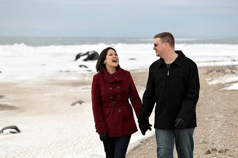 Wasaga Beach engagement photography at Wasaga Beach Provincial Park