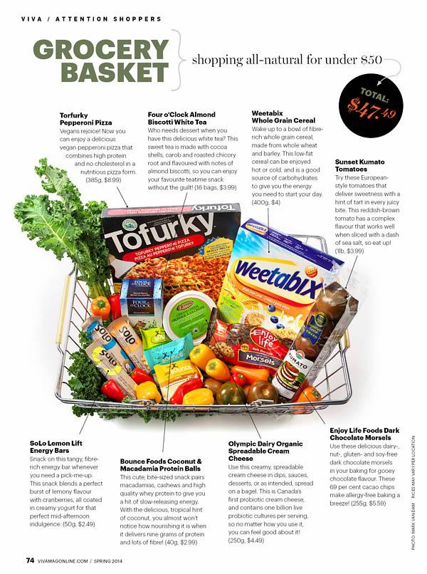 viva magazine grocery basket photography