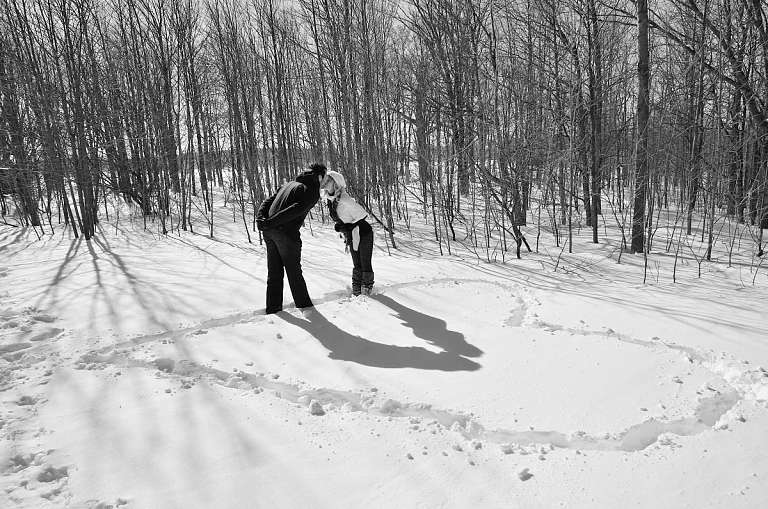 bruce trail winter engagement