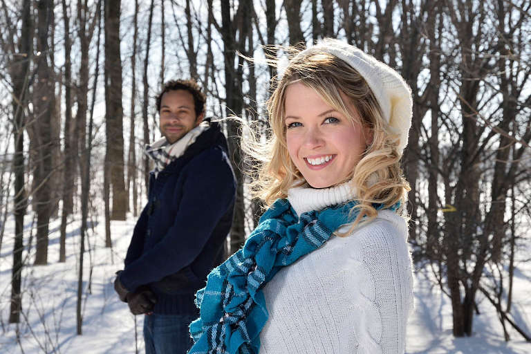 collingwood winter engagement photo