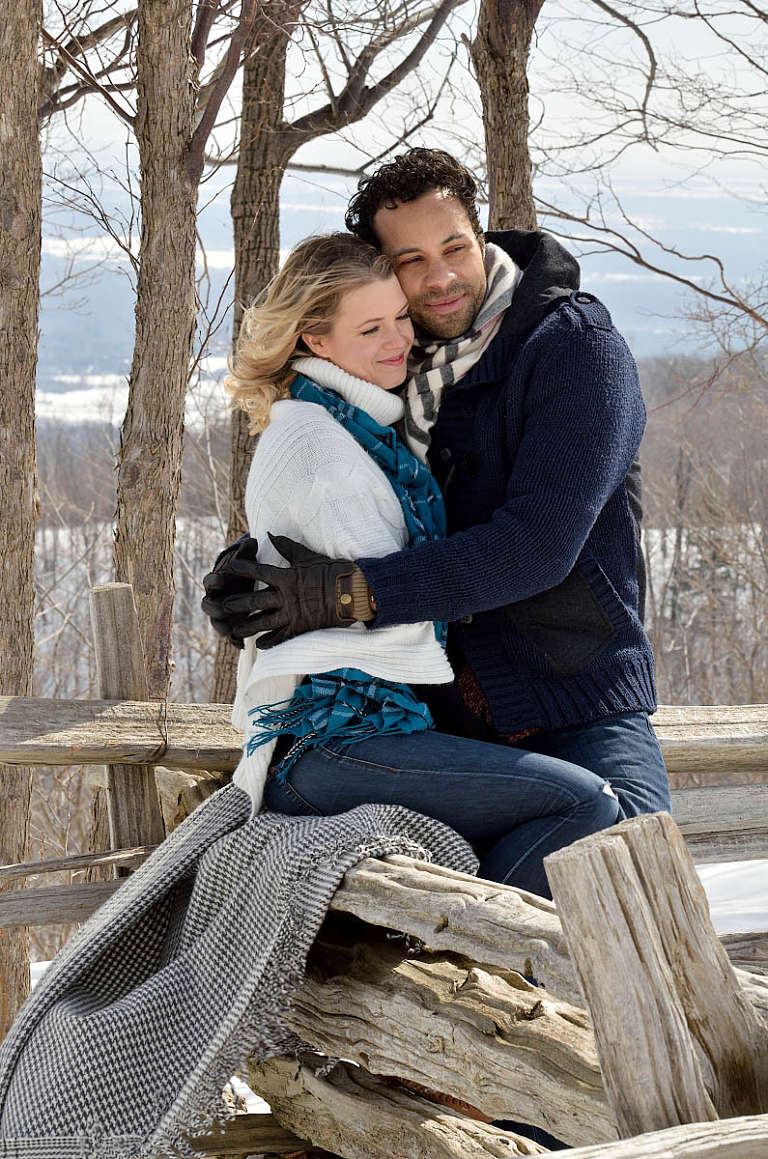 on top of blue mountain engagement photography
