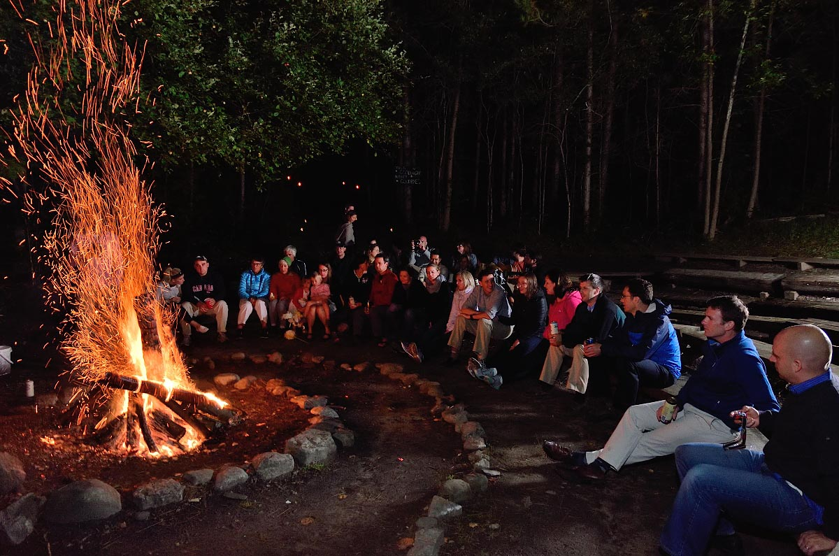 Wedding bonfire at Youth Leadership Camp of Canada in Orillia