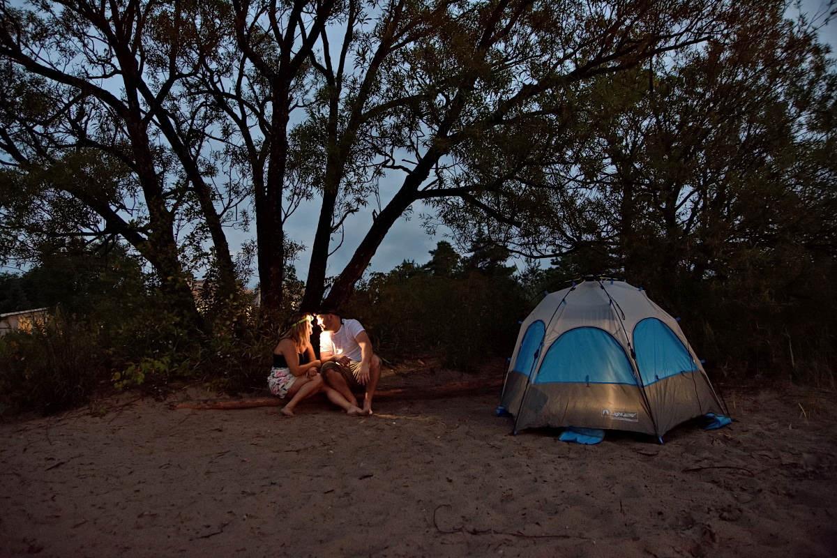 Cones and Camping at New Wasaga Beach