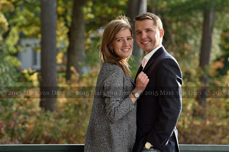 Engaged Couple at Stephen Leacock Museum in Orillia