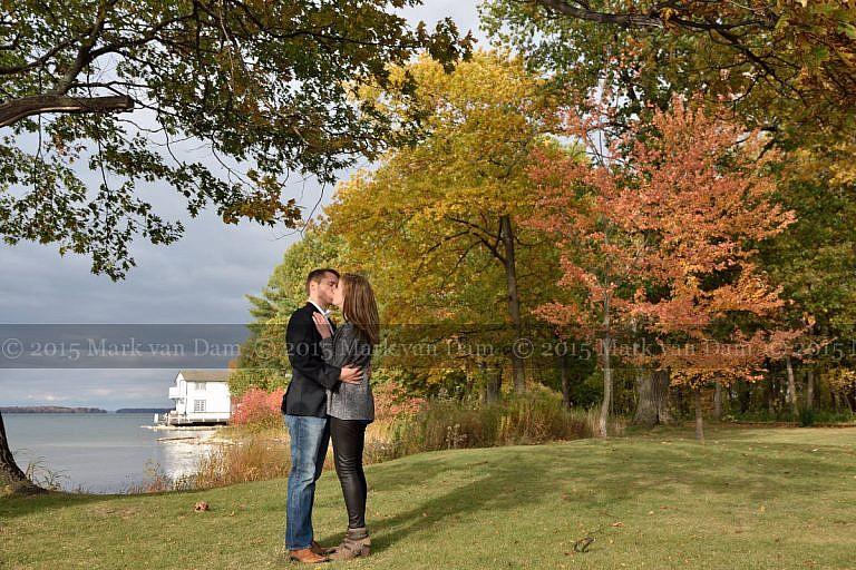 Orillia engagement session at Leacock Museum in Orillia, Ontario
