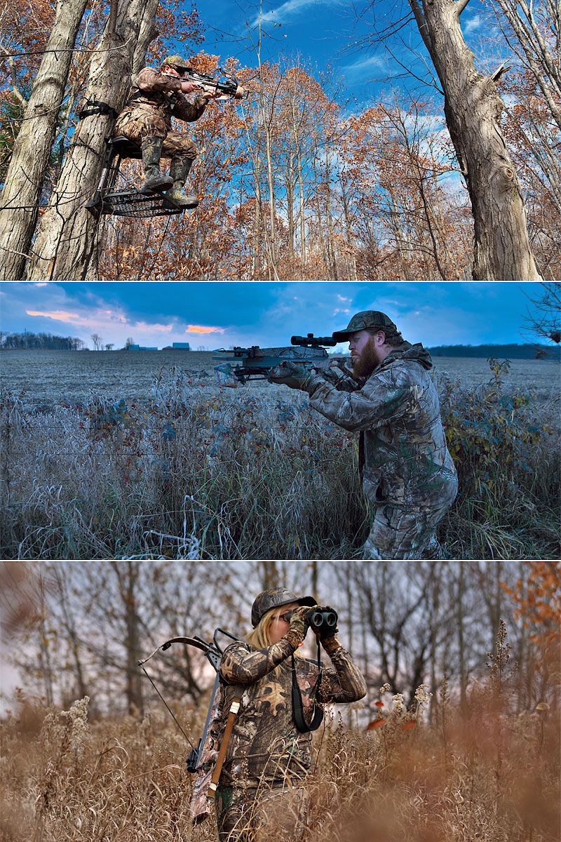 consolidated library of deer hunting imagery composite image
