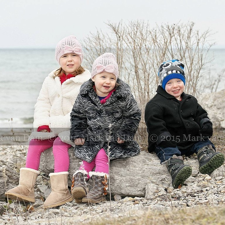 Young children at Sunset Point Collingwood Ontario