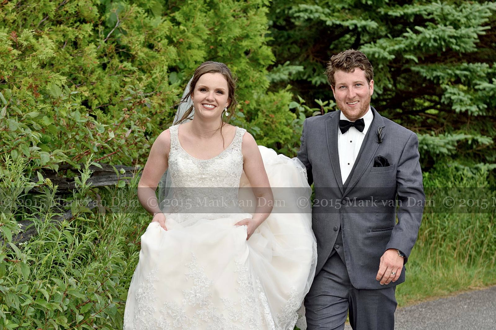 August gale inverts groom's umbrella at Orillia wedding