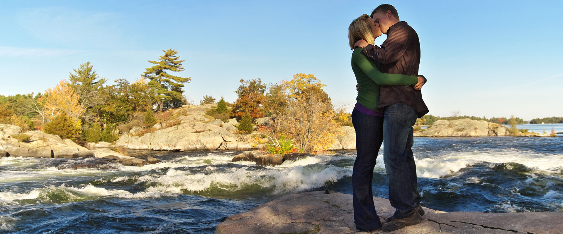 Engagement Session at Burleigh Falls, near Peterobourh in the Kawartha Lakes