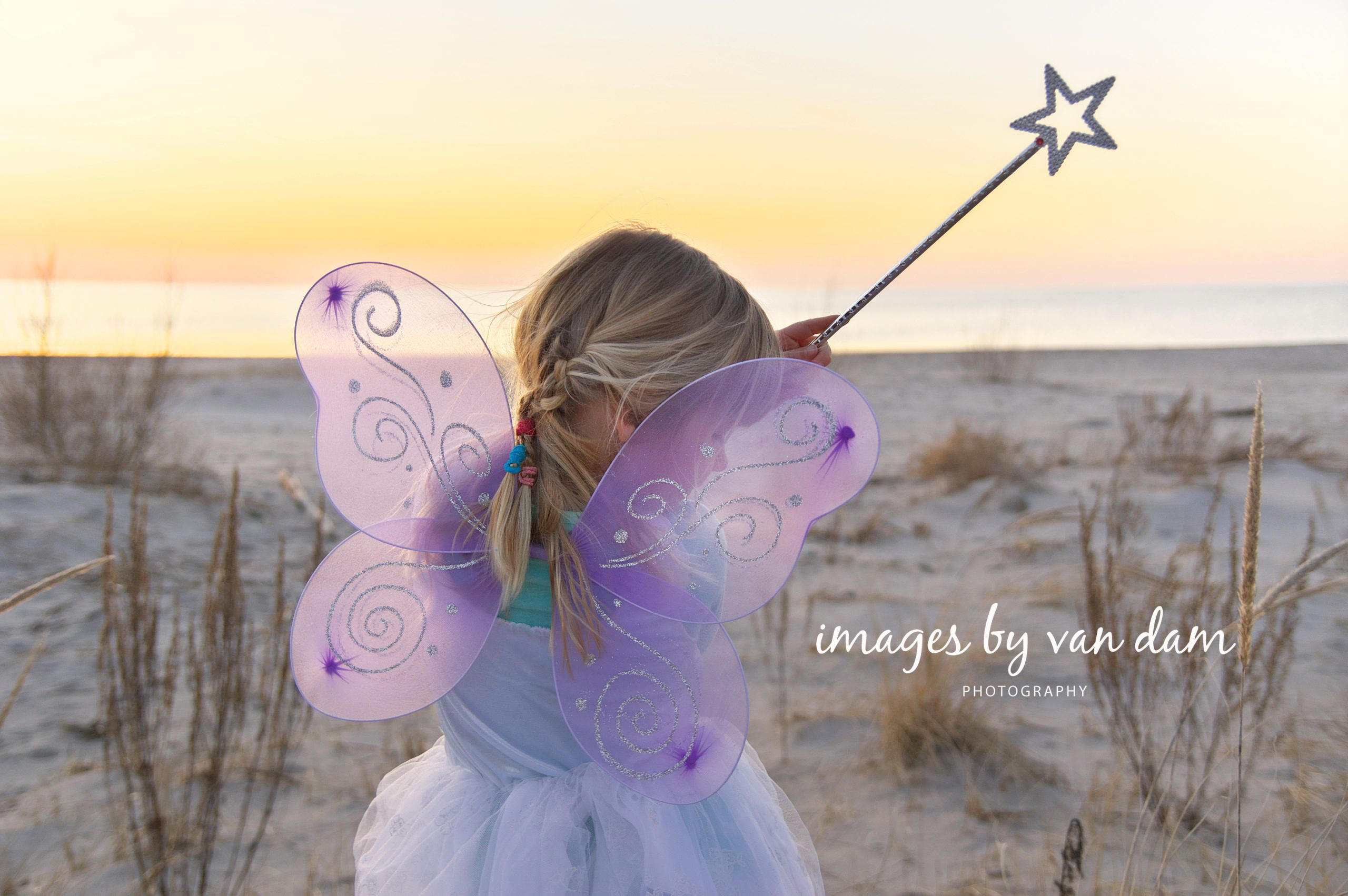 Magical Fairy portrait at sunset Wasaga Beach