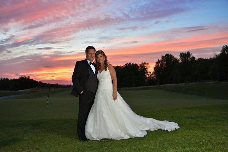 Sunset wedding photography at The Club at Bond Head