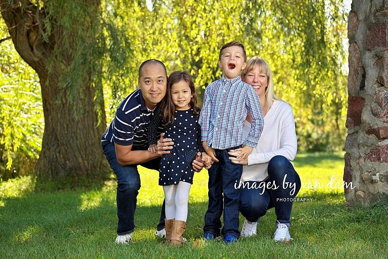 Family Portraits at Sainte Marie Park in Midland