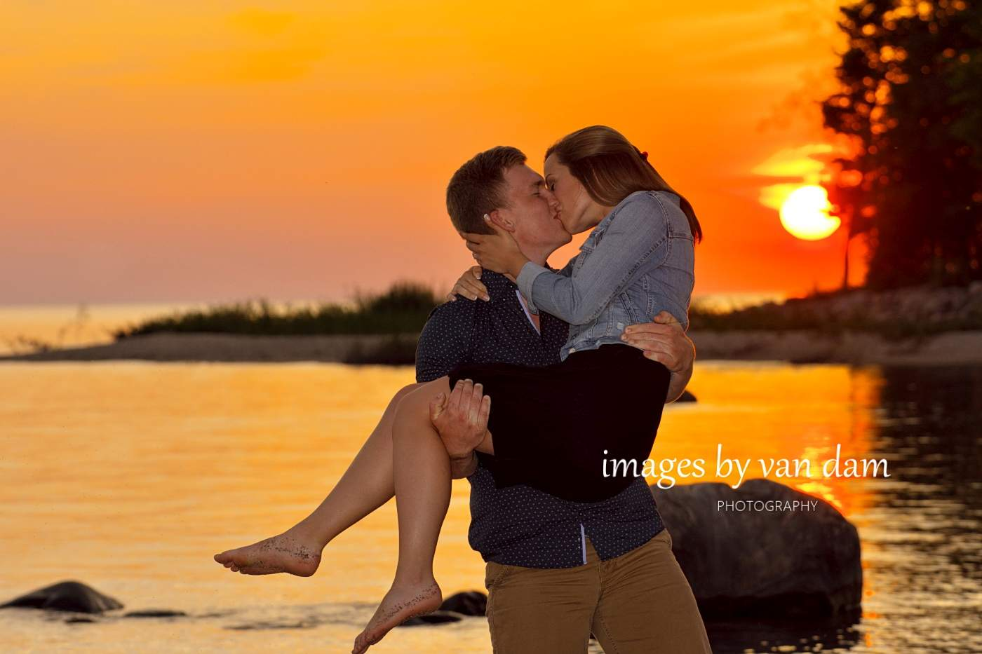 E-session near Wasaga Beach with Epic Sunset