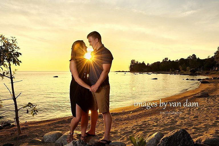 georgian bay sunset engagement photography