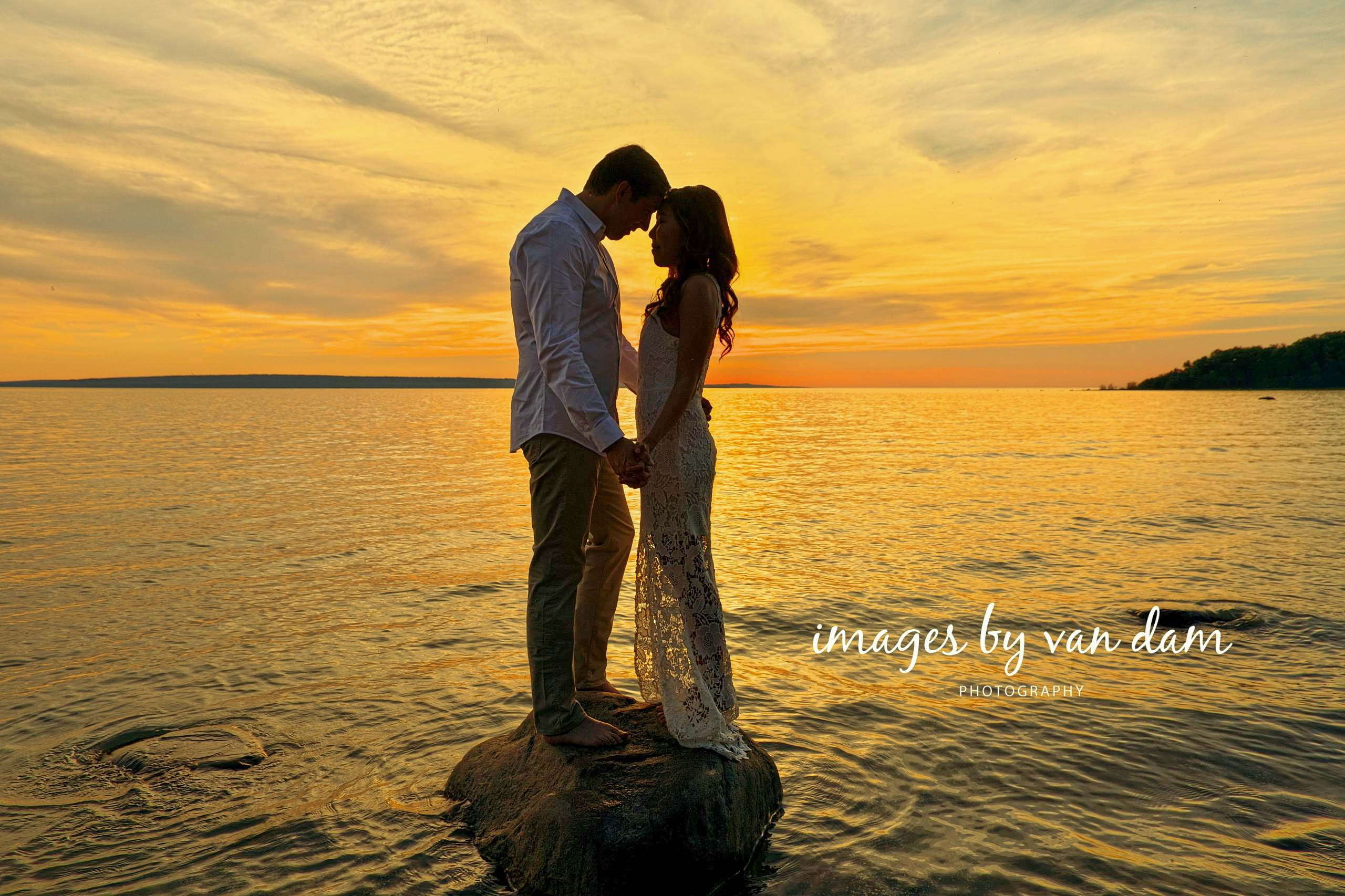 Epic sunset engagement session on Georgian Bay