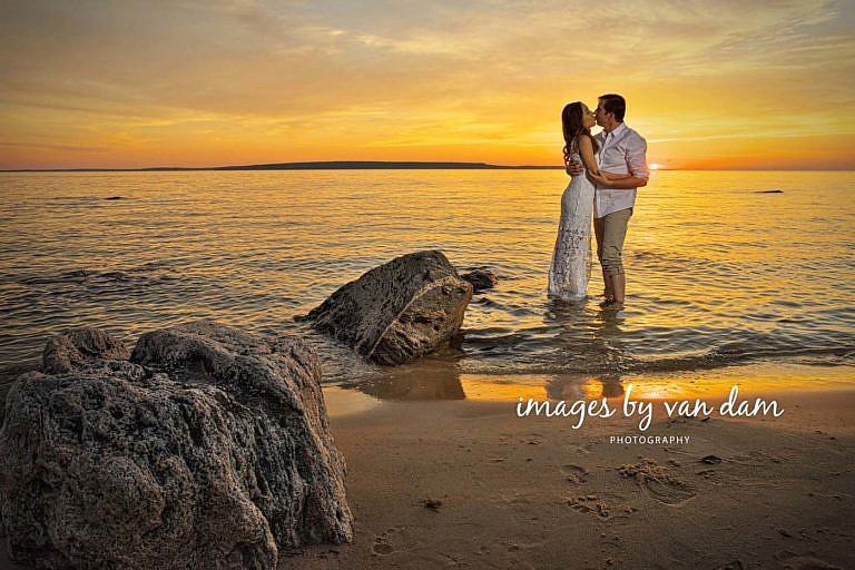 barrie wedding photographer sunset at Awenda Provincial Park