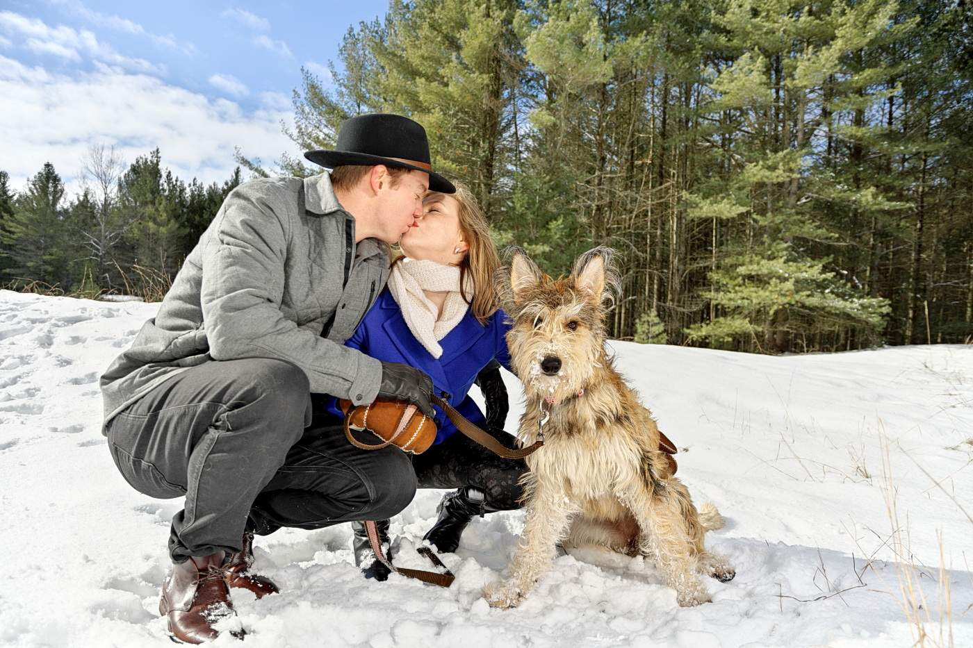 Wasaga beach photographer winter engagement session at Wasaga Beach provincial Park