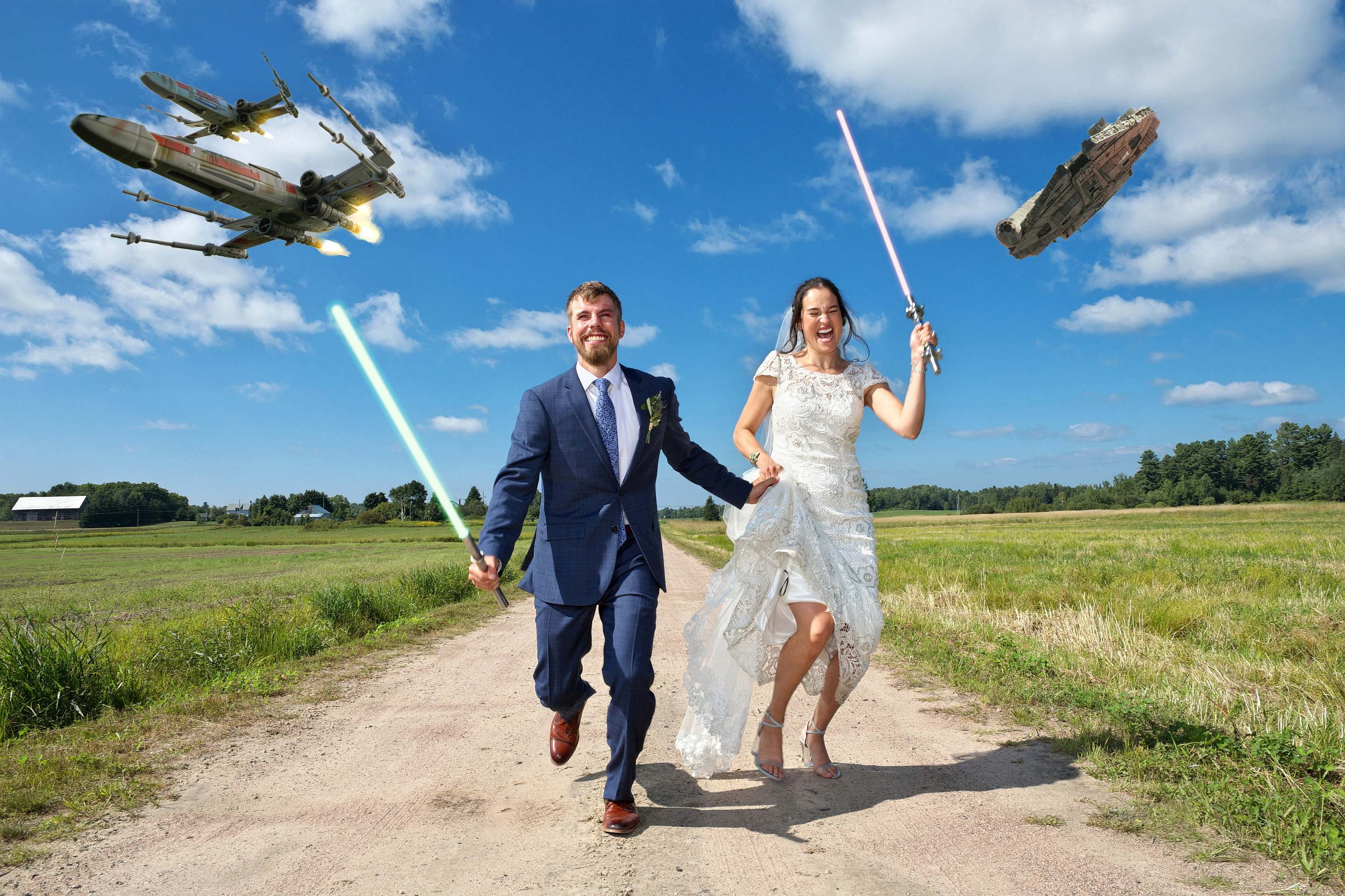 star wars wedding photography