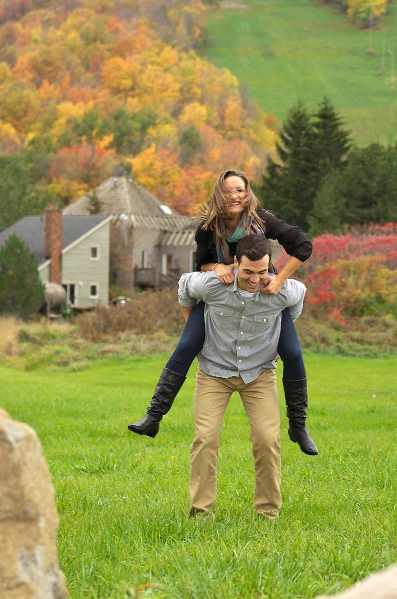 blue mountain village photographer collingwood photographer blue mountain engagement fall