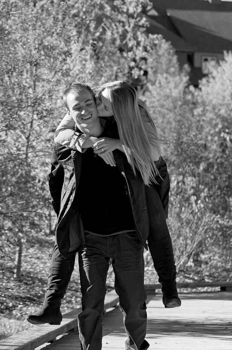Blue mountain photographer fall engagement session in Collingwood at Blue Mountain Village