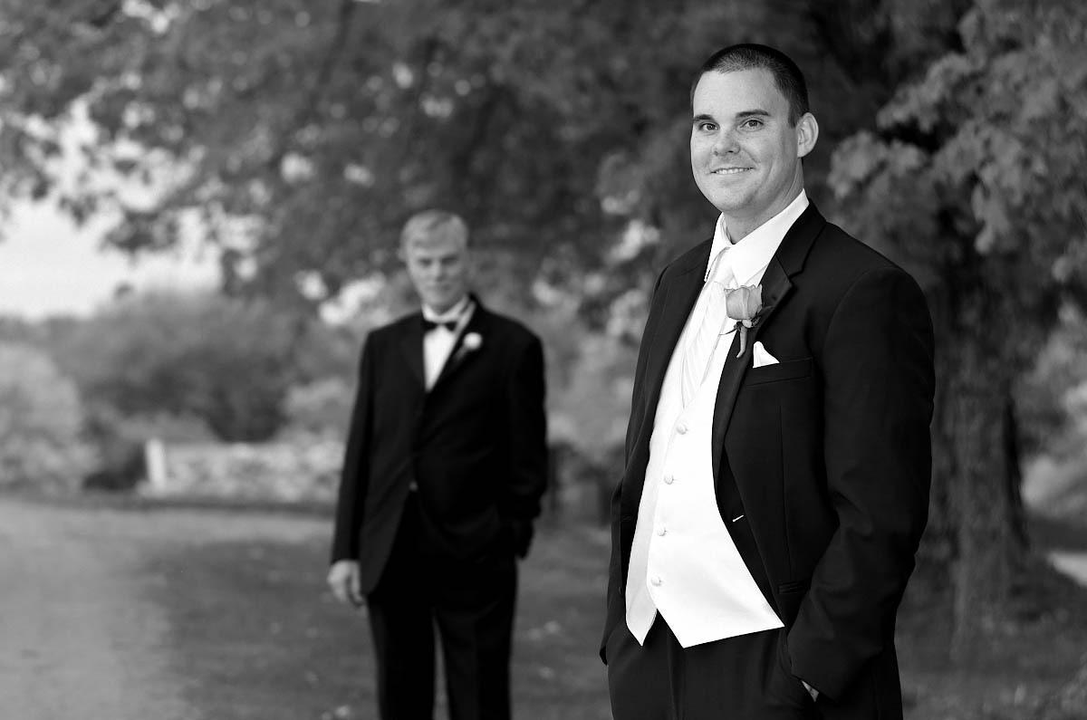 Groom with his father at Eganridge wedding
