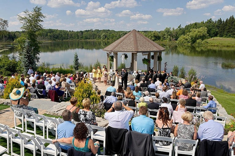 wedding ceremony at royal ambassador in caledon