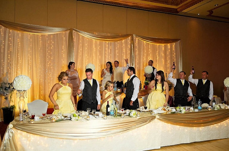 head table wedding toast