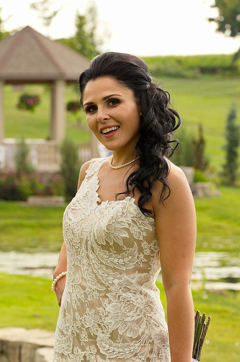 Beautiful bride at The Royal Ambassador in Caledon, Ontario