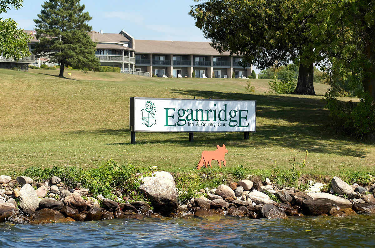 View of Eganridge Resort from Sturgeon Lake