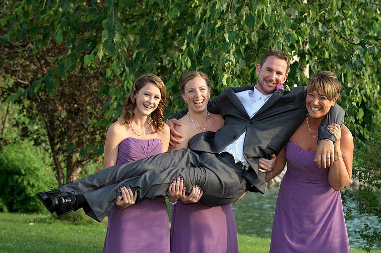 bridesmaids lift groom nottawasaga inn