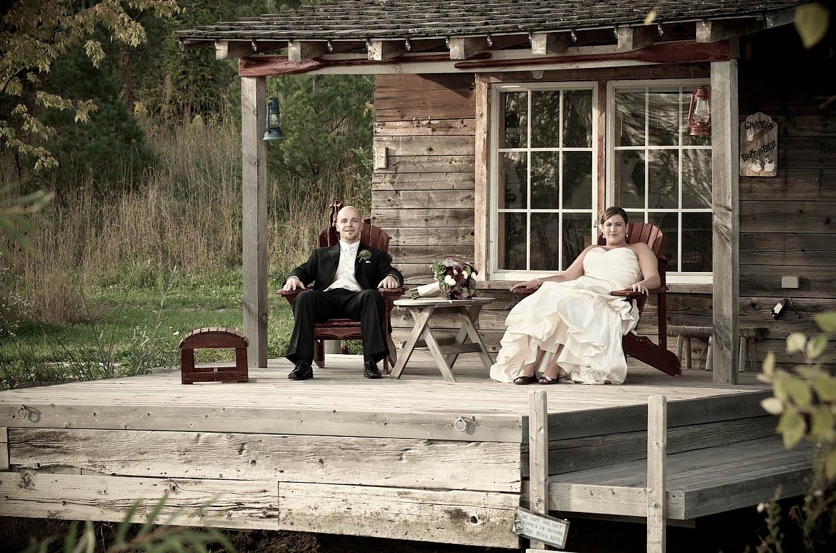sitting on the fishing shack deck