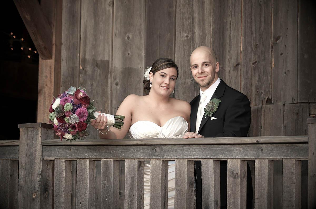 vintage wedding couple at belcroft