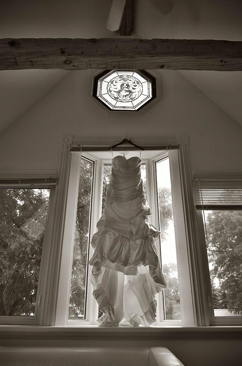 wedding dress in window belcroft