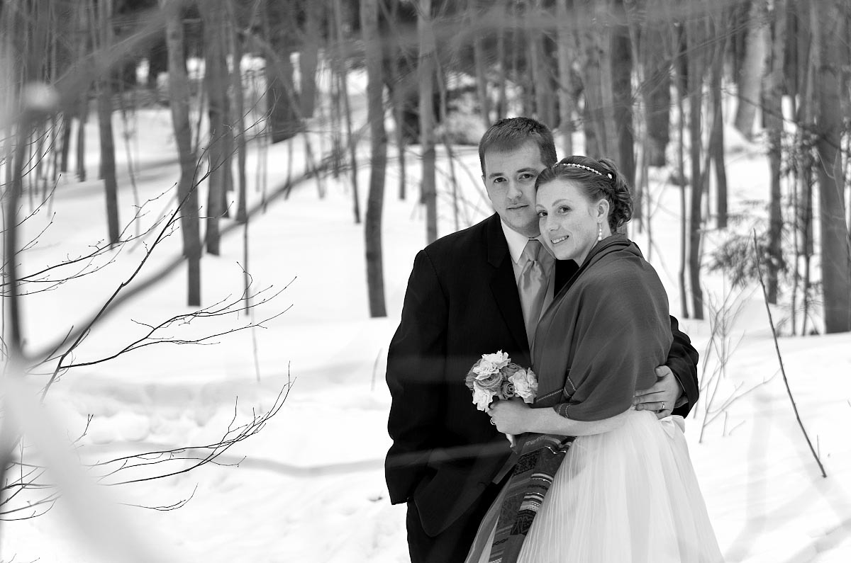 tiffin centre wedding photography session in the winter near barrie, ontario